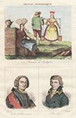 French Regional Costumes - Women in Rochefort - Charente-Maritime - Portrait - De la Galissonni�re (1646-1737) - Jean-Baptiste Baudin (1811-1851)