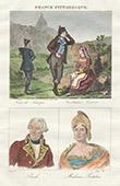 French Regional Costumes - Corsica - Portraits - Pascal Paoli (1725-1807) - Letizia Bonaparte (1750-1836)