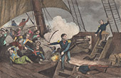 Heroism of Hippolyte Magloire Bisson - Navy officer - Boarding of the Panayotti in Greece (1827)