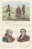 French Regional Costumes - Aveyron - Farmings - Portraits - Duc de Belle-Isle (1684-1761) - Louis de Bonald (1754-1840)