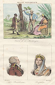 Franz�sische Regionale Trachten - Martinique - Antillen - Portr�ten - Alexandre de Beauharnais (1760-1794) - Jos�phine de Beauharnais (1763-1814)