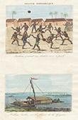 Französisch-Guayana - Indianer - Fußball - Floß - Fluss