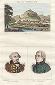 View of Murat (Cantal - France) - Portraits of  Dormont de Belloy (1727-1775) - Dufour de Pradt (1759-1837)
