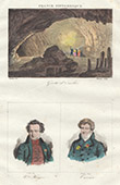 Cave of Osselle (Doubs - France) - Portraits - Victor Hugo (1802-1885) - Georges Cuvier (1769-1832)