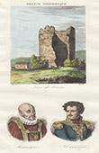 Tour de V�sone (Dordogne - France) - Portraits - Montaigne (1533-1592) - Daumesnil (1776-1832)