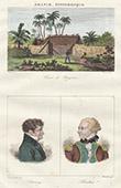 Shack - Ile Bourbon - Portraits - �variste de Parny (1753-1814) - Antoine Bertin (1752-1790)