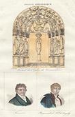 Kirche von Vermenton (Yonne - Frankreich) - Porträten - Joseph Fourier (1768-1830) - Michel Regnaud de Saint-Jean d'Angély (1760-1819)
