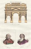 Triumphbogen von Orange (Vaucluse - Frankreich) - Portr�ten - Jean-Sifrein Maury (1746-1817) - Esprit Fl�chier (1632-1710)
