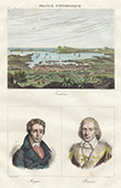 View of Toulon (Var - France) - Portraits - Emmanuel-Joseph Siey�s (1748-1836) - Paul Barras (1755-1829)
