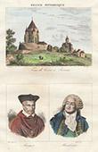 Tour C�sar - Tower - Provins (Seine-et-Marne - France) - Portraits - Jacques Amyot (1513-1593) - Mirabeau (1749-1791)