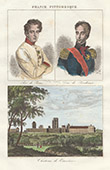 Portraits - Napoleon II King of Rome - Henri of Artois, duc de Bordeaux (1820-1883) - View of Vincennes Castle (France)