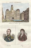 Vue de Lyon (Rh�ne - France) - Hotel de Ville - Portraits - Louis-Gabriel Suchet (1770-1826) - Jean-Baptiste Say (1767-1832)