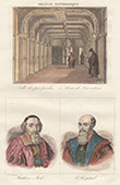 Court of Cassation of Paris - Portraits of Louis Mathieu comte Mol� (1781-1855) and Michel de l'Hospital (1505-1573)