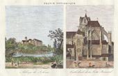 Paysage de Sarthe (France) - Abbaye Saint-Pierre de Solesmes - Cath�drale de la Fert�-Bernard