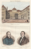 Courthouse of Paris - Portraits of Berryer (1790-1868) and Odilon Barrot (1791-1873)
