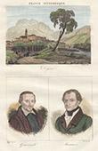 Ansicht von Digne (Alpes-de-Haute-Provence - Frankreich) - Portr�ten von Gassendi (1592-1655) - Manuel