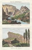 View of Fontaine-de-Vaucluse - Castle of Mornas (Vaucluse - France)