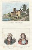 Pierre-Buffi�re Castle - Portraits - Vergniaud (1753-1793) - Marie-Maurille de Sombreuil (1768-1823) - Limousin (Haute-Vienne - France)