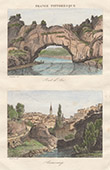 View of Annonay - Pont de l'Arc - Bridge (Ard�che - France)
