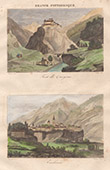 Fort Queyras - Ch�teau medieval - Vue de Embrun (Hautes-Alpes - France)
