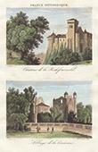 Castle of La Rochefoucauld - Abbey of La Couronne (Charente - France)