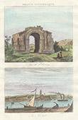 Arch of Glanum - Saint-R�my-de-Provence - View of La Ciotat (Bouches-du-Rh�ne - Bouches-du-Rhone - France)
