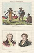 French Regional Costumes - Antilles - Negro Slaves - Portraits - Guillaume Guillon Lethi�re (1760-1832) - Vincent Campenon (1772-1843)
