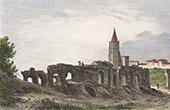 Ruins of Roman Amphitheater - Saintes (Charente-Maritime - France)