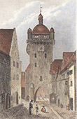 View of S�lestat - Clock Tower - Alsace (Bas-Rhin - France)