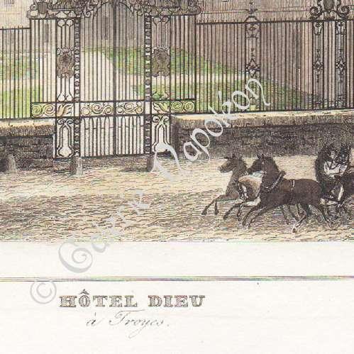 Gravures anciennes ancien h tel dieu le comte hopital for Porte 60 hotel dieu sherbrooke