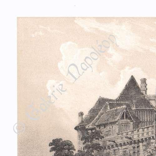 alte stiche ansicht von le neubourg haute normandie eure frankreich lithografie 1854. Black Bedroom Furniture Sets. Home Design Ideas
