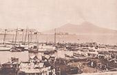 Vue de Naples - V�suve - Marina di Mergellina (Italie)