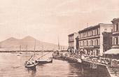 Vue de Naples - V�suve - Strada di San Lucia (Italie)