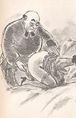 Erotic Print - Spoonerism - Le Bon Vieux Cur� est Devenu Mou entre Deux Fesses