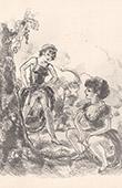 Erotic Print - Spoonerism - Ces Jeunes Filles Pissent dans l