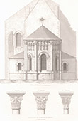 Architect's Drawing - Saint-Genou Church (Indre - France)