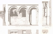 Architect's Drawing - Piscina - Medieval Church - Ouistreham - Calvados - Argentan - Orne (France)