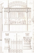 Architect's Drawing - Cirque d'hiver - Winter Circus - Cirque Napol�on (Paris) - Cast iron fence