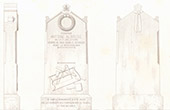 Architect's Drawing - Grave of Albouse - Montparnasse Cemetery (Paris)
