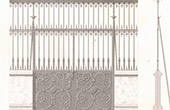 Architect's Drawing - Wrought Iron fence - Saint-Martin Church (Cologne - Germany)