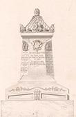 Architect's Drawing - Grave of Bott�e de Toulmon - P�re Lachaise Cemetery (Paris)