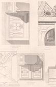 Architect's Drawing - Grave of Bott�e de Toulmon - P�re Lachaise Cemetery (Paris) - Details