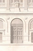 Architect's Drawing - City Hall (3th Arrondissement of Paris) - Portal