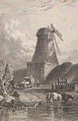 England - Windm�hle in Kempsford - Gloucestershire - Themse (Gro�britannien - Vereinigtes K�nigreich)
