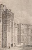 England - Courtyard of the Warwick Castle - Warwickshire - William the Conqueror (Great Britain - United Kingdom)