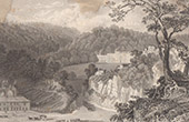 England - Willersley Castle - Seat of Richard Arkwright, Esquire - Derbyshire (Great Britain - United Kingdom)