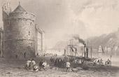 Irland - Ansicht von Waterford - The Quay - Suir Fluss - Hafen - Reginald's Tower