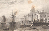 Ireland - View of Custom House in Dublin