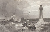 England - Fort Perch Rock Lighthouse - Liverpool - New Brighton