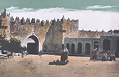 Jerusalem - Damascus Gate - Fortification - Machicolation (Israel)